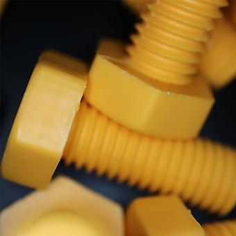 30 x Polypropyleen (PP) Plastic moeren en bouten, M10 x 25mm