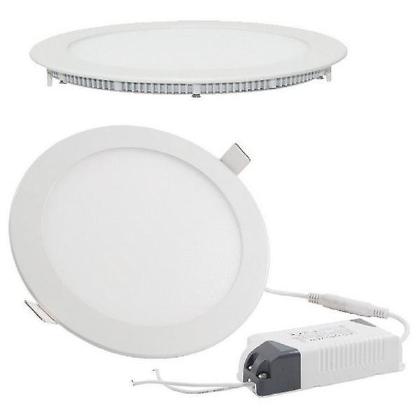 I LumoS LED 3 Watt Round Recessed Lighting Panel UltraSlim Ceiling Light Warm White
