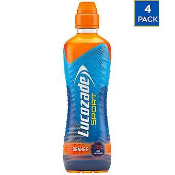 4 x 500ml Lucozade Sport Orange Energy Drink Koolhydraten vitamine gezonde hydratatie