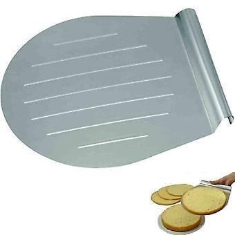Steel Cake And Pizza Lifter 31 X 28 Cm For Kitchen Oven And Baking