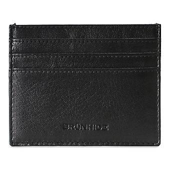 Brunhide miesten nahkakortin haltija ohut lompakko - RFID - ulompi id-ikkuna # 254-300