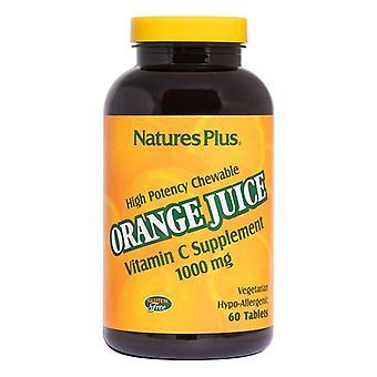 Nature's Plus Orange Juice C 1000mg Chewable Tabs 60 (2468)