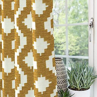 McAlister tekstiler Arizona geometriske sennep gule gardiner
