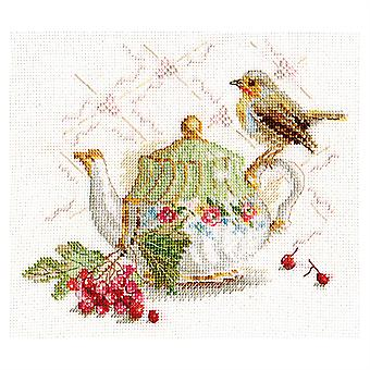 Alisa Cross Stitch Kit - Bird on Teapot