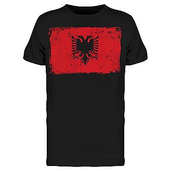 Albania Symbol In Grunge Style Tee Men's -Image by Shutterstock