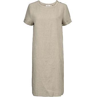 Masai Clothing Nalani Neutral Linen Dress