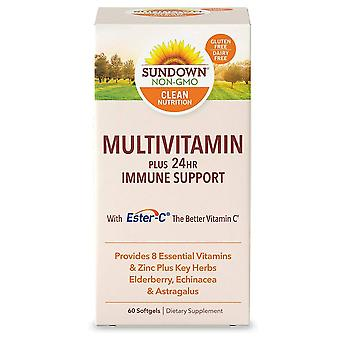 Sundown naturals multi + daily immune support, softgels, 60 ea
