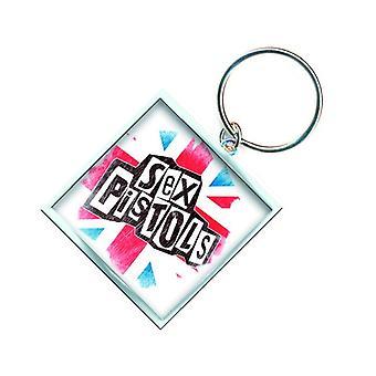 Sex Pistols Keyring Keychain Union Jack new Official