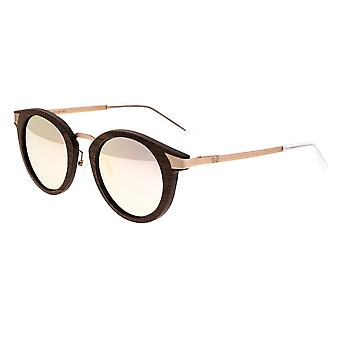 Earth Wood Zale Polarized Sunglasses - Walnut Zebrawood/Rose Gold