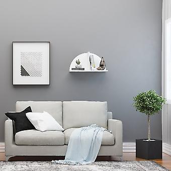 Mensola Maui Color Bianco in Truciolato, Strato in Metallo Verniciato 60x18x31 cm