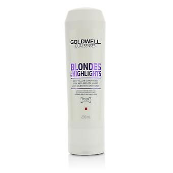 Dual senses blondes & highlights anti yellow conditioner (luminosity for blonde hair) 215433 200ml/6.8oz