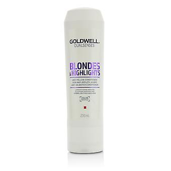 デュアルセンスブロンド&ハイライトアンチイエローコンディショナー(ブロンドの髪のための明るさ)215433 200ml / 6.8オンス