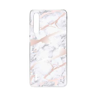 Skrog for xiaomi mi 9 lite myk rosa marmor effekt