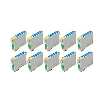 RudyTwos 10x Replacement for Epson Seahorse Ink Unit Cyan Compatible with Stylus Photo R200, R220, R300, R300M, R320, R325, R330, R340, R350, RX300, RX320, RX500, RX600, RX620, RX640