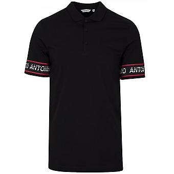 Antony Morato Sport Black ARM logo camisa pólo