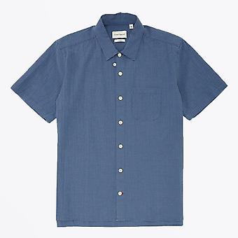 Oliver Spencer - Chemise à carreaux hawaïenne - Bleu
