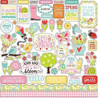 Echo Park Spring Fling 12x12 Inch Element Sticker