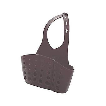 Double Pockets Suction Hanging Basket for Sponge Drain Used As Kitchen Gadget