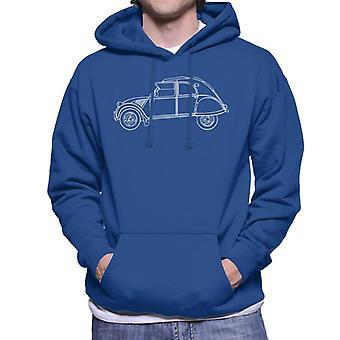 Citro�n Vintage 2CV Art Men's Hooded Sweatshirt
