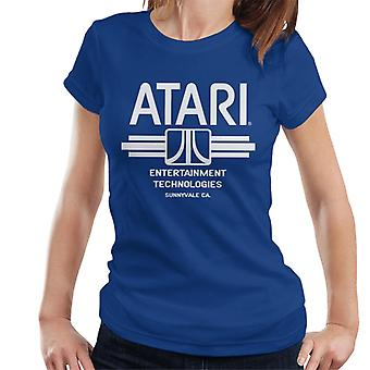 Atari Entertainment Technologies Logo Beyaz Kadın's T-Shirt