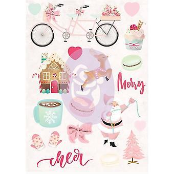 بريما التسويق سانتا الطفل ملصقات منتفخ