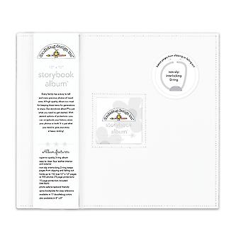 Doodlebug Design Lily White 12x12 Inch Storybook Album
