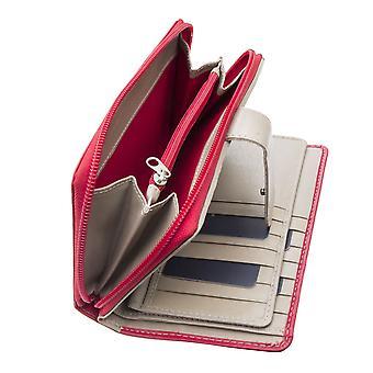 Primehide Dámske veľké kožené peňaženky RFID blokovanie ženy peňaženka 2404