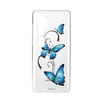 Coque Pour Xiaomi Mi Note 10 Souple Papillon Sur Arabesque