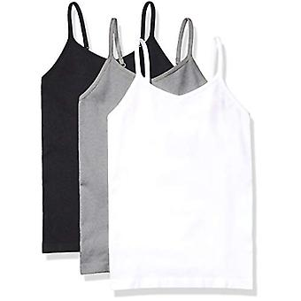 Essentials Girls' 3-Pack Nahtlose Camisole, Heather Grau/Weiß/Schwarz, ...