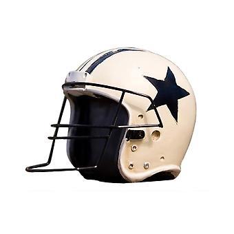 Football Helmet Model Resin Home Decoration White