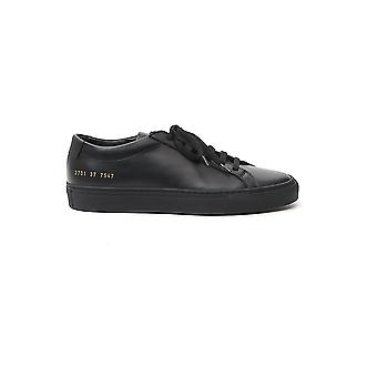 Common Projects 37017547 Women's Black Leather Sneakers