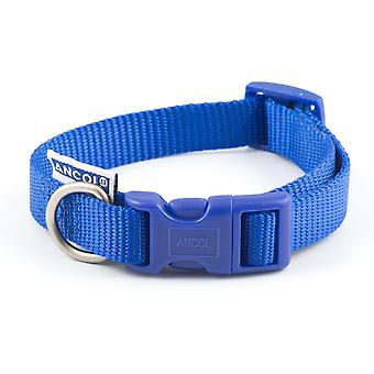 Ancol Nylon Adjustable Collar - Size 5-9 (18-28 inch) - Blue
