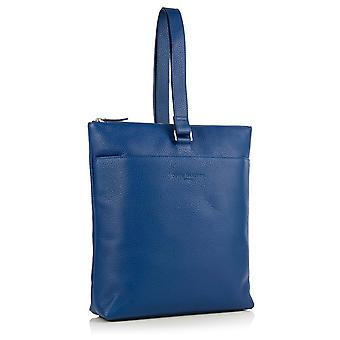 Little Molly Leather Sling Backpack in Sapphire Blue Richmond Chrome Free Leather