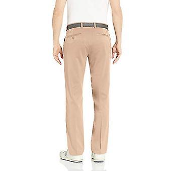 Essentials Men's Standard Straight-Fit Stretch, Khaki, Size 32W x 32L