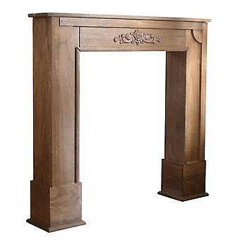 Rebecca Furniture Decoration Fireplace Fireplace Brown Wood Shabby 100x105x21
