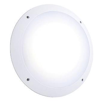 Saxby Seran Micro-ondes - Led Extérieur Microwave Wall Light Matt White Texturé, Opal IP65