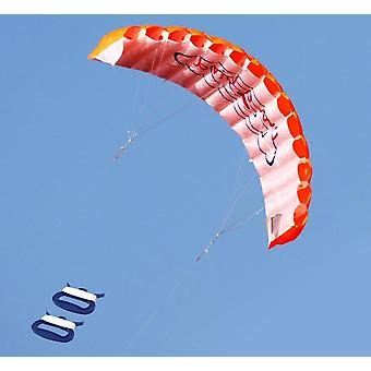 Dual Line Stunt Parafoil Fallschirm - Regenbogen Sport Strand Kite für Anfänger