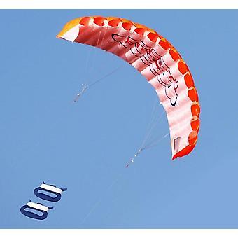 Dual Line Stunt Parafoil Parachute - Rainbow Sports Beach Kite For Beginner