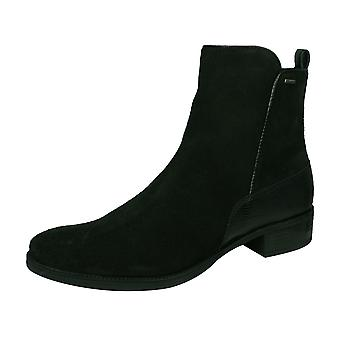 Geox D Meldi NP ABX Womens Suede Leather Ankle Boots - Black