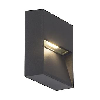 AEG Lamp Led Outdoor Wall Lamp Square Antraciet   1x 3W LED geïntegreerd (SMD), (180lm, 3000K)   Schaal A++ naar
