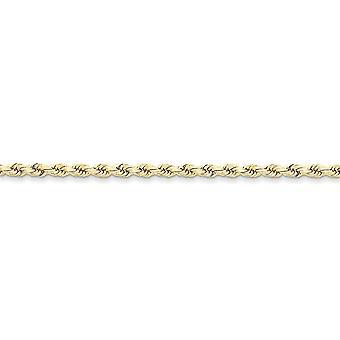 10 k Gelb Gold solide Hummer Klaue Schließung 3,5 mm handgefertigt Sparkle-Cut Kette Halskette - Lobster Claw - Seillänge: 16 bis