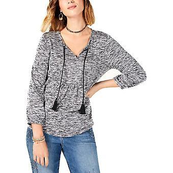 Stil og co | Plisseret space dye pullover top