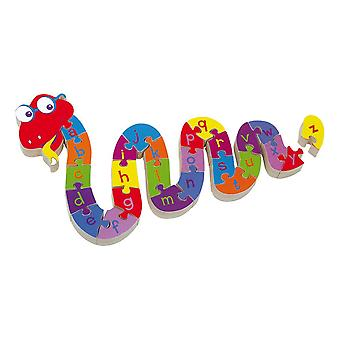Legler Small Foot ABC Snake Wooden Plug Puzzle Kid-apos;s Toy Unisex (6235)
