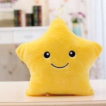 Luminous Pillow Christmas Toys Led Light Plush Pillow Colorful Stars Kids Birthday Gift