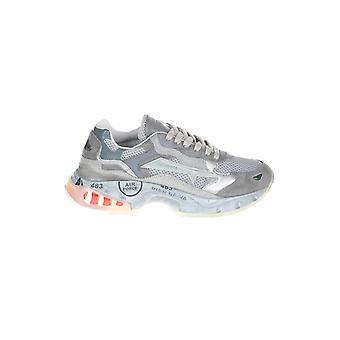 Premiata Sharkyd067 Women's Grey Leather Sneakers
