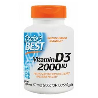 أفضل الأطباء فيتامين D3، 2000 وحدة دولية، 180 Softgels