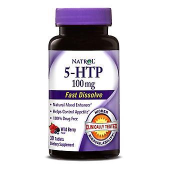 Natrol 5-HTP Fast Dissolve, 100 mg, 30 Tabs