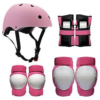 Schutzausrüstungsset mit Helm, Knie, Ellenbogen und Handgelenkspolstern
