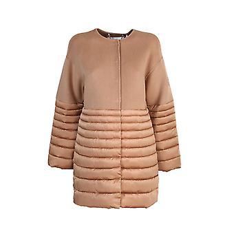 Elisabetta Franchi Pi28z06e2470 Women's Beige Wool Down Jacket