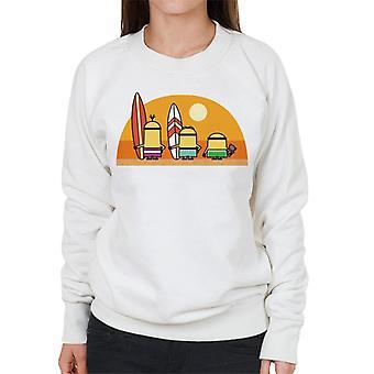 Despicable Me Minions Surfing Sunset Women's Sweatshirt